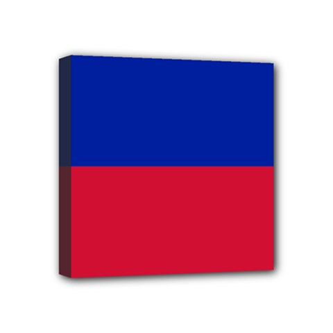 Civil Flag of Haiti (Without Coat of Arms) Mini Canvas 4  x 4