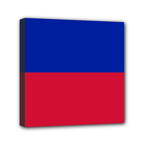 Civil Flag of Haiti (Without Coat of Arms) Mini Canvas 6  x 6