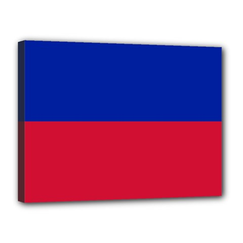 Civil Flag of Haiti (Without Coat of Arms) Canvas 16  x 12