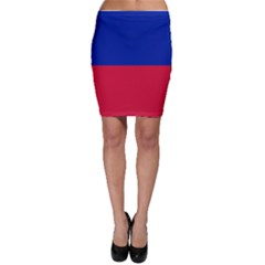 Civil Flag of Haiti (Without Coat of Arms) Bodycon Skirt