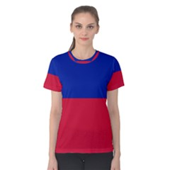 Civil Flag of Haiti (Without Coat of Arms) Women s Cotton Tee