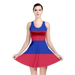 Civil Flag of Haiti (Without Coat of Arms) Reversible Skater Dress