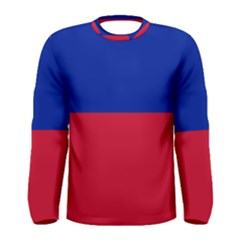 Civil Flag of Haiti (Without Coat of Arms) Men s Long Sleeve Tee