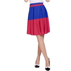 Civil Flag of Haiti (Without Coat of Arms) A-Line Skirt