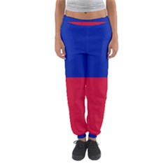 Civil Flag of Haiti (Without Coat of Arms) Women s Jogger Sweatpants