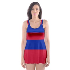 Civil Flag Of Haiti (without Coat Of Arms) Skater Dress Swimsuit