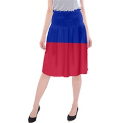 Civil Flag of Haiti (Without Coat of Arms) Midi Beach Skirt