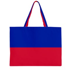 Civil Flag of Haiti (Without Coat of Arms) Large Tote Bag