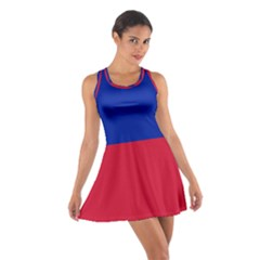Civil Flag of Haiti (Without Coat of Arms) Cotton Racerback Dress