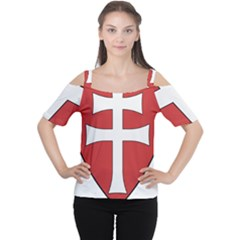 Coat of Arms of Apostolic Kingdom of Hungary, 1172-1196 Women s Cutout Shoulder Tee