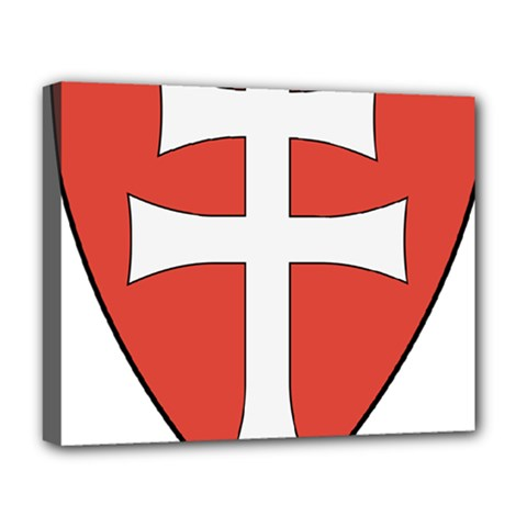 Coat of Arms of Apostolic Kingdom of Hungary, 1172-1196 Deluxe Canvas 20  x 16