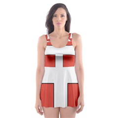 Coat Of Arms Of Apostolic Kingdom Of Hungary, 1172 1196 Skater Dress Swimsuit