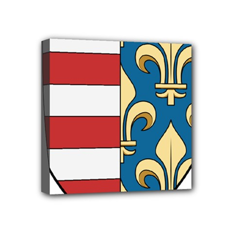 Angevins Dynasty of Hungary Coat of Arms Mini Canvas 4  x 4