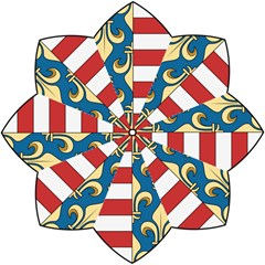 Angevins Dynasty of Hungary Coat of Arms Folding Umbrellas