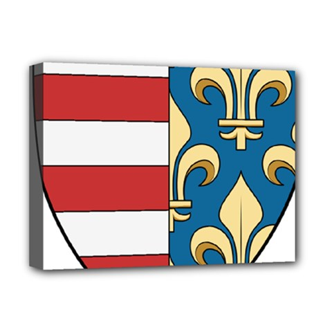 Angevins Dynasty of Hungary Coat of Arms Deluxe Canvas 16  x 12