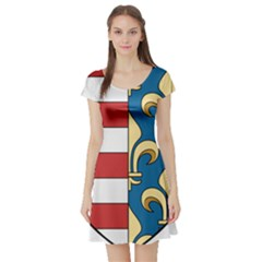 Angevins Dynasty of Hungary Coat of Arms Short Sleeve Skater Dress