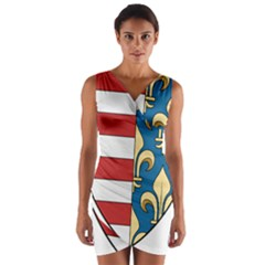 Angevins Dynasty of Hungary Coat of Arms Wrap Front Bodycon Dress