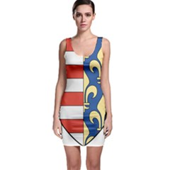 Angevins Dynasty of Hungary Coat of Arms Sleeveless Bodycon Dress
