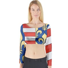 Angevins Dynasty of Hungary Coat of Arms Long Sleeve Crop Top
