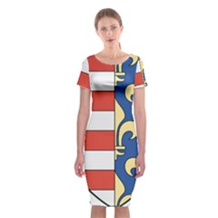 Angevins Dynasty of Hungary Coat of Arms Classic Short Sleeve Midi Dress