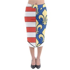 Angevins Dynasty of Hungary Coat of Arms Midi Pencil Skirt