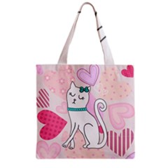 Cute Cat Character Grocery Tote Bag