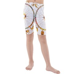 Zodiac Institute Of Vedic Astrology Kids  Mid Length Swim Shorts