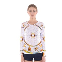 Zodiac Institute Of Vedic Astrology Women s Long Sleeve Tee