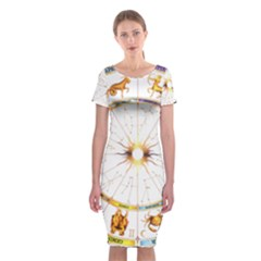 Zodiac Institute Of Vedic Astrology Classic Short Sleeve Midi Dress