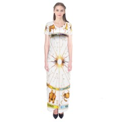 Zodiac Institute Of Vedic Astrology Short Sleeve Maxi Dress