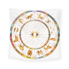 Zodiac Institute Of Vedic Astrology Square Tapestry (Small)
