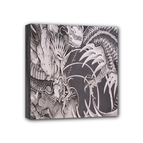 Chinese Dragon Tattoo Mini Canvas 4  x 4
