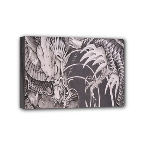 Chinese Dragon Tattoo Mini Canvas 6  x 4