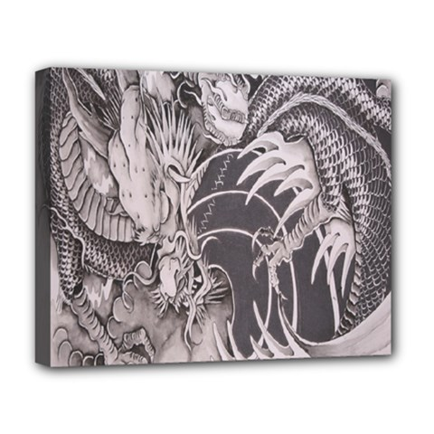 Chinese Dragon Tattoo Deluxe Canvas 20  x 16