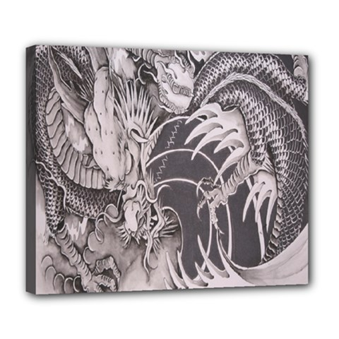 Chinese Dragon Tattoo Deluxe Canvas 24  x 20