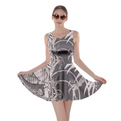 Chinese Dragon Tattoo Skater Dress