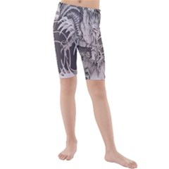 Chinese Dragon Tattoo Kids  Mid Length Swim Shorts