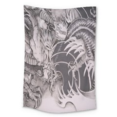 Chinese Dragon Tattoo Large Tapestry