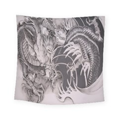 Chinese Dragon Tattoo Square Tapestry (Small)