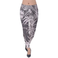 Chinese Dragon Tattoo Velvet Leggings