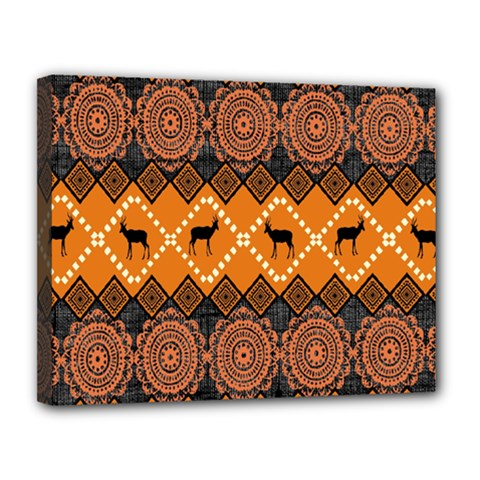 Traditiona  Patterns And African Patterns Canvas 14  X 11