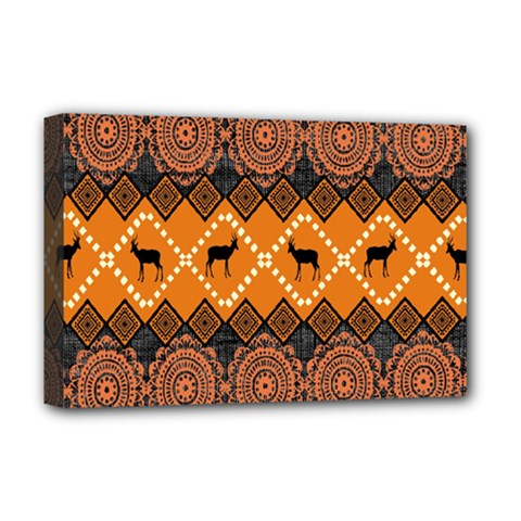 Traditiona  Patterns And African Patterns Deluxe Canvas 18  x 12