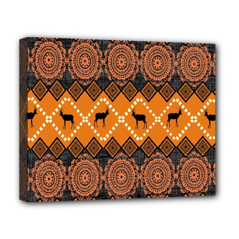 Traditiona  Patterns And African Patterns Deluxe Canvas 20  x 16