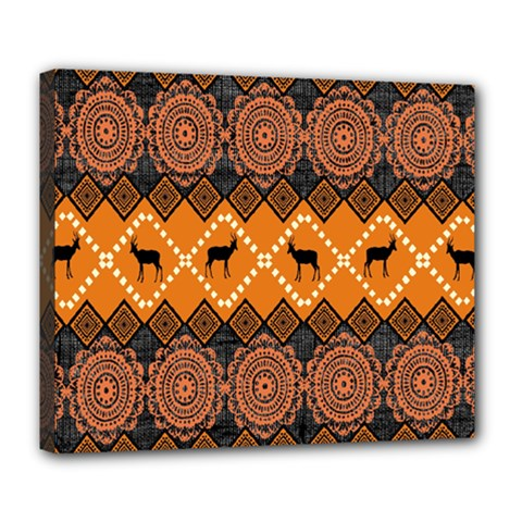 Traditiona  Patterns And African Patterns Deluxe Canvas 24  x 20
