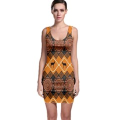 Traditiona  Patterns And African Patterns Sleeveless Bodycon Dress