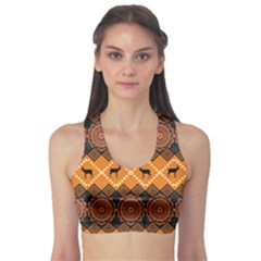 Traditiona  Patterns And African Patterns Sports Bra