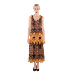 Traditiona  Patterns And African Patterns Sleeveless Maxi Dress