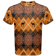 Traditiona  Patterns And African Patterns Men s Cotton Tee