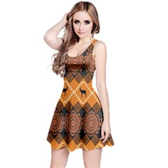 Traditiona  Patterns And African Patterns Reversible Sleeveless Dress