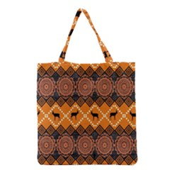 Traditiona  Patterns And African Patterns Grocery Tote Bag